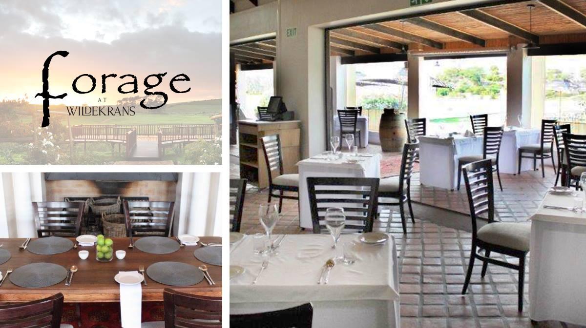 Forage Restaurant at Wildekrans